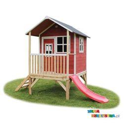 Domek dla dzieci do ogrodu EXIT Loft 300 czerwono - brązowy