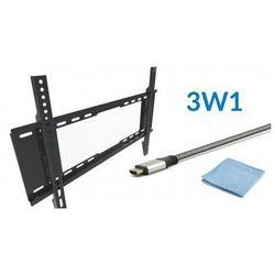 Zestaw Uchwyt TV VESA 600x400 + Kabel HDMI 2m + Ściereczka do ekranów