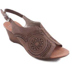 V1166-64 Rieker sandały brązowe perforowane