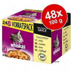 Whiskas Adult, 24 x 100 g - Wybór dań drobiowych w galarecie
