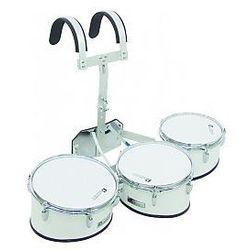 Dimavery MT-330 Marching Drum Set, white, zestaw bębnów marszowych
