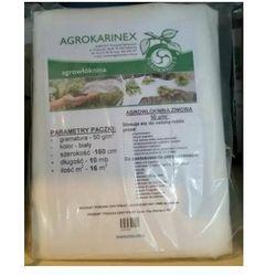 Agrowółknina zimowa PP 50 g/m2 biała 1,6 x 10 mb. Paczka o wadze 0,9 kg.