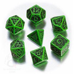 Komplet Celtycki zielono-czarny 3D
