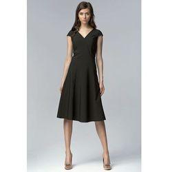 3d4776876e suknie sukienki czerwona sukienka za kolano ze zlotymi elementami ...