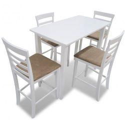 Stół wysoki biały + Wysokie krzesła (x4) Zapisz się do naszego Newslettera i odbierz voucher 20 PLN na zakupy w VidaXL!