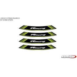 Paski na felgi PUIG (wzór RACING, kolor zielony)