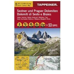 Sextner und Pragser Dolomiten 3D, Wanderkarte. Dolomit di Sesto e Braies
