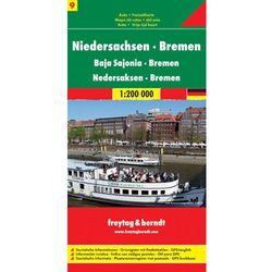 Niemcy część 9 Dolna Saksonia Brema mapa 1:200 000 Freytag & Berndt (opr. twarda)