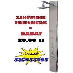 GWARANCJA NAJNIŻSZEJ CENY! | Panel prysznicowy z termostatem wersja szczotkowana, NEO S-060T | NOWA PROMOCJA - Przy zamówieniu telefonicznym RABAT 80,00 zł