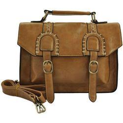 Oryginalna torebka listonoszka w stylu Vintage LIGHT BROWN - jasnobrązowy -22% Listonoszki (-22%)