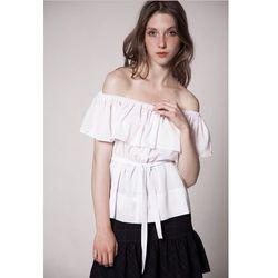 Bluzka biała z odkrytymi ramionami