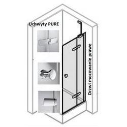 Drzwi do ścianki bocznej PRAWE Huppe Enjoy ELEGANCE 120 cm, montaż na brodziku, chrom eloxal, szkło przeźroczyste z Anti-Paque 3T0205.092.322