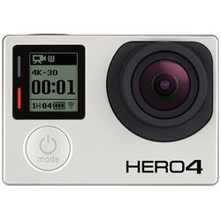 Kamera sportowa GoPro HERO 4 Black , 4K30 / 2,7K50 / 1440p80 /1080p120 , wodoodporna, CHDHX-401, Srebrna