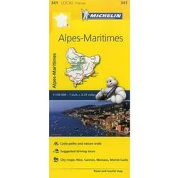Alpes-Maritimes, France Local Map 341