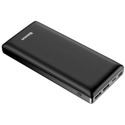 Baseus Mini JA power bank 30000 mAh USB / USB-C PD / micro USB / Lightning 3A czarny (PPJAN-C01)