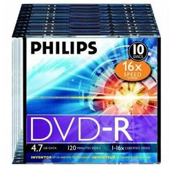 Płyta PHILIPS DVD+R 4.7 GB Slim